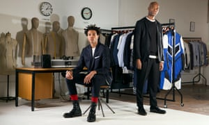 Joe Casely-Hayford and son