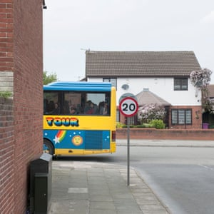 The Magical Mystery Tour bus passes the end of Madryn Street, where Ringo Starr lived as a child