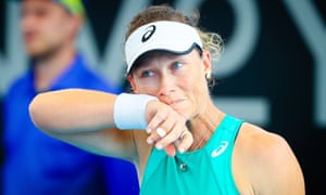 Sam Stosur made it five Australian Open first-round defeats in a row.