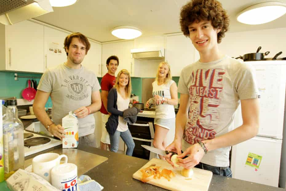 Freshers in student accommodation