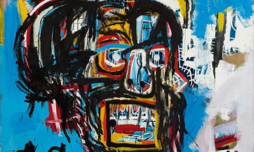 "Detail from ""Untitled"", a 1982 painting by deceased artist Jean-Michel Basquiat."