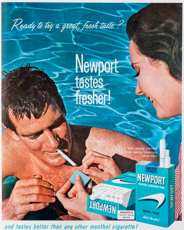 Menthol cigarettes advert