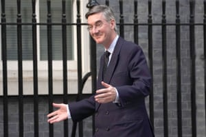 Leader of the House of Commons Jacob Rees-Mogg arriving at Downing Street earlier.