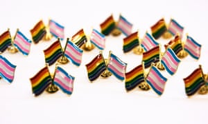 Badges are seen at the Pride Cup Handbook launch