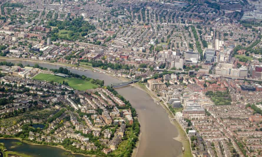 The Thames between Hammersmith and Barnes in west London