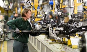 A worker at the Jaguar Land Rover site in Castle Bromwich