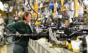A worker at the Jaguar Land Rover factory in Castle Bromwich, West Midlands, 5 July 2019