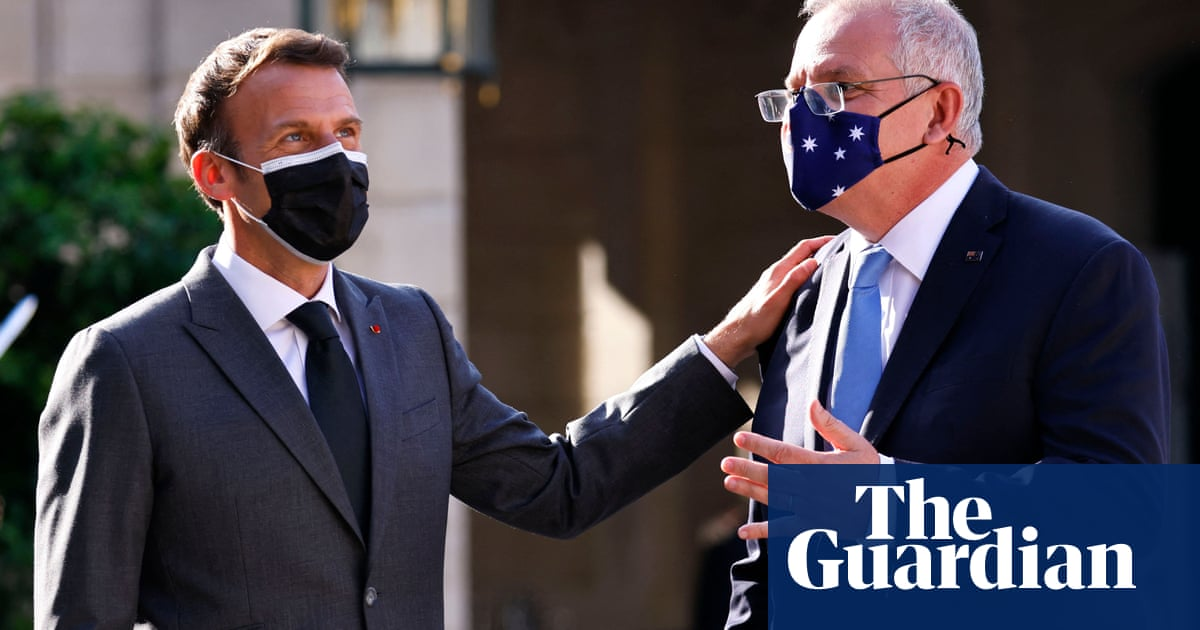 Scrapping submarines deal broke trust, Macron tells Australian PM