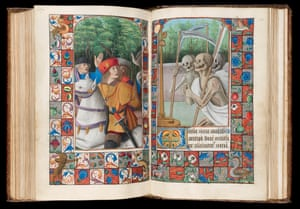 Book of Hours, Use of Rome, The Three Living and the Three Dead, Western France, c.1490-1510.