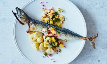 Thomasina Miers' chargrilled mackerel with pineapple and star anise relish