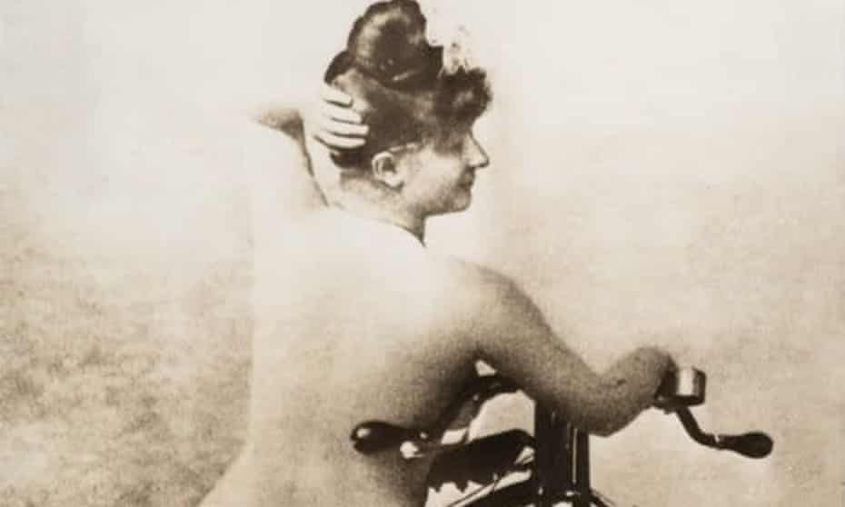 At the point at which bicycles were adopted by vanguard feminists as a source of liberation, they simultaneously started to feature heavily in pornography.
