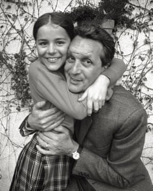 Angela with her father Ottavio in 1968.