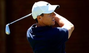 Rory McIlroy during a practice round before the Charles Schwab Challenge in Texas
