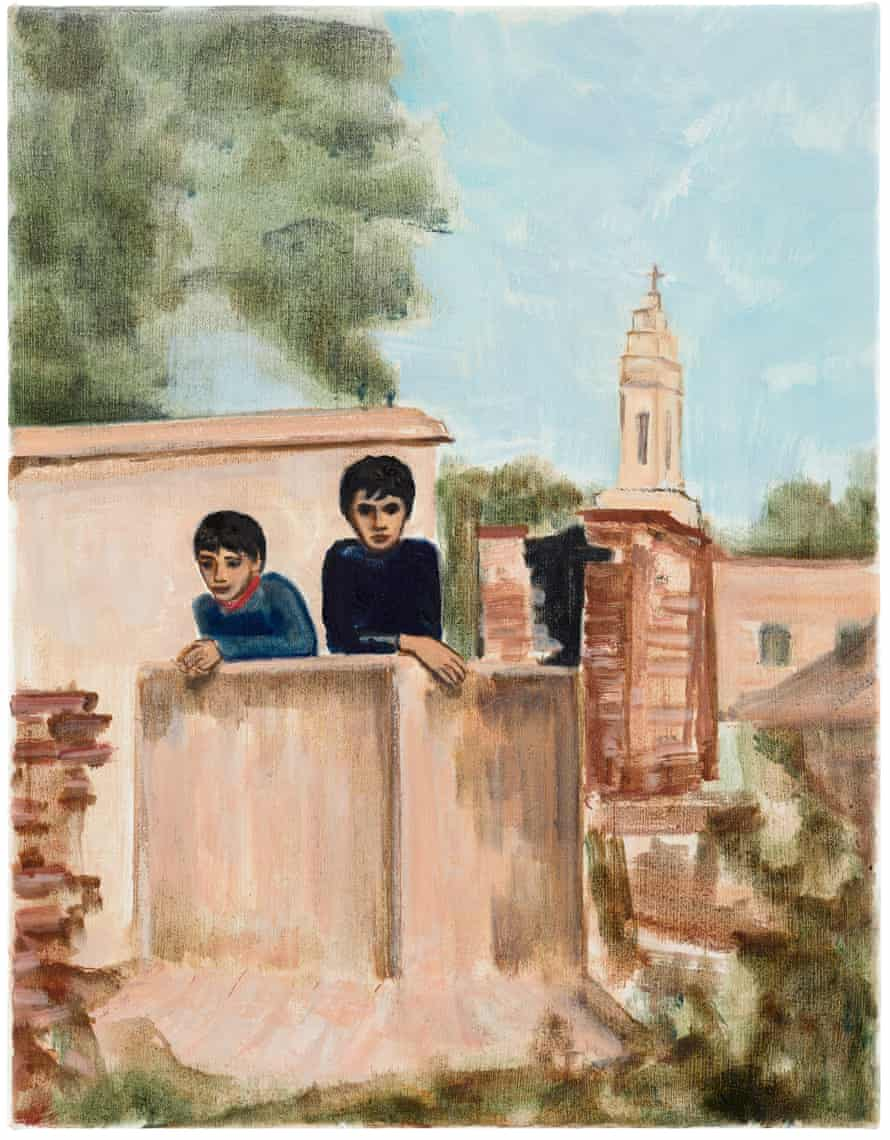 Two Boys (Church Tower), 2020 by Matthew Krishanu.