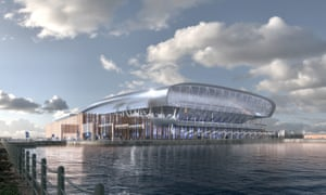 An image of the final designs of Everton's new 52,000-seater stadium at Bramley-Moore Dock on Liverpool's waterfront