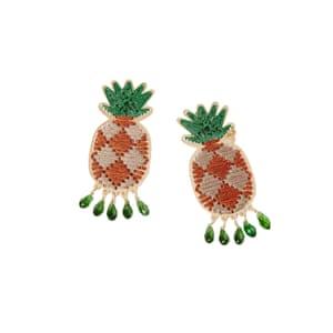 Pineapple earrings, £195, Mercedes Salazar at koibird.com