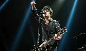 'I want joy, love and passion' … Green Day's Billie Joe Armstrong at Leeds Arena.