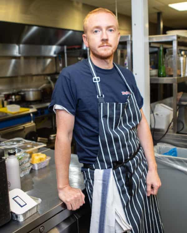 Patrick Bek in the Medleys kitchen.