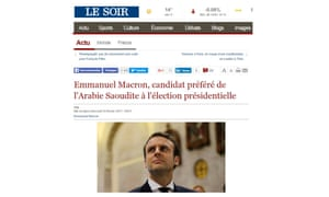 A fake news article purporting to have come from Le Soir.
