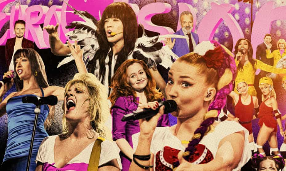 Collage of Eurovision singers