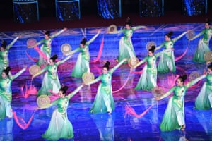Beijing, ChinaDancers perform as part of an evening gala staged for the opening ceremony of the International Horticultural Exhibition in Beijing