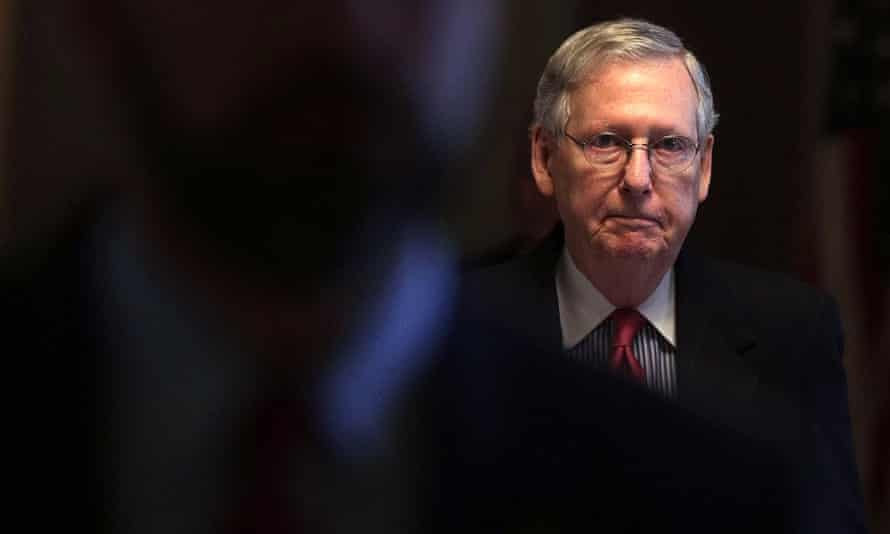 The Senate majority leader, Mitch McConnell, reached a deal with his Democratic counterpart on Monday.