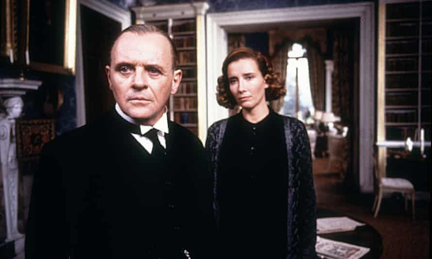 Anthony Hopkins and Emma Thompson in the 1993 film version of The Remains of the Day.
