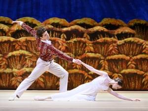 Daria Khokhlova and Igor Tsvirko in the Bolshoi's The Bright Stream at the Royal Opera House.