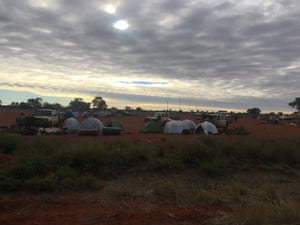 The camp site at Kiwirrkurra in the Gibson Desert during the bilby (ninu) summit.