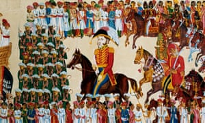 English grandee of the East India Company riding in an Indian procession, 1825-1830. (Photo by Ann Ronan Pictures/Print Collector/Getty Images)