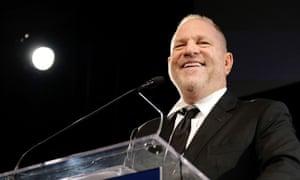 Harvey Weinstein speaks in New York earlier this year.