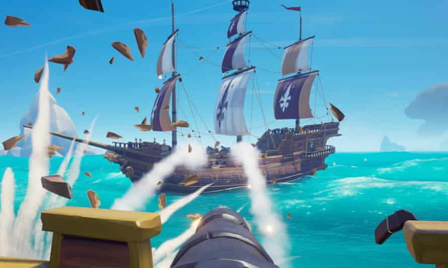 You'll laugh more than you've ever laughed with a game before … Sea of Thieves.