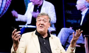 Stephen Fry at Hay literary festival on Saturday.