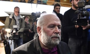 Bernard Preynat in court in Lyon on Monday.