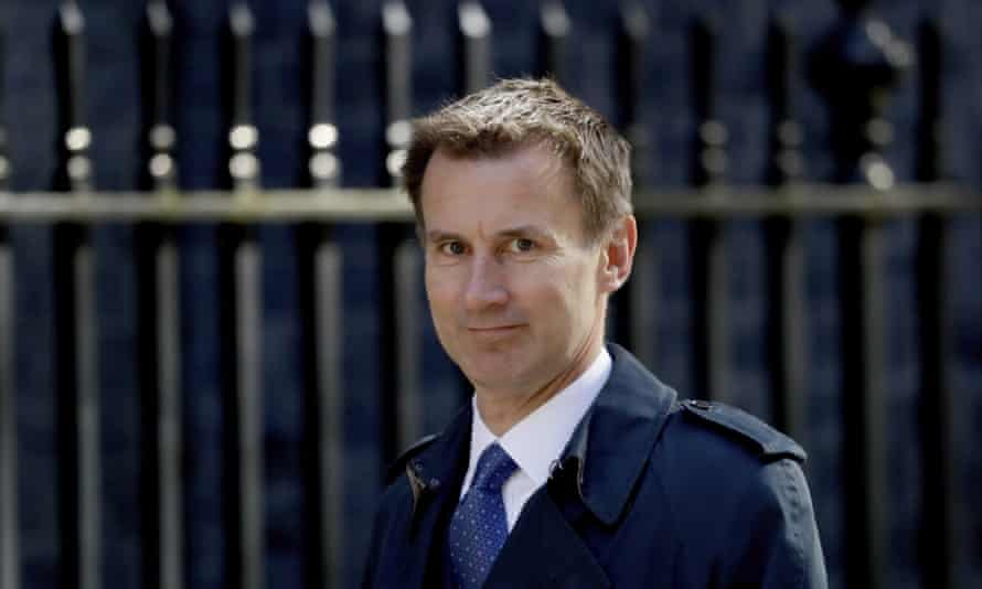 Jeremy Hunt arrives for a cabinet meeting at 10 Downing Street in London.