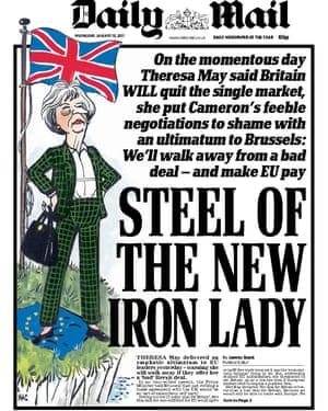 Cover of the Daily Mail.