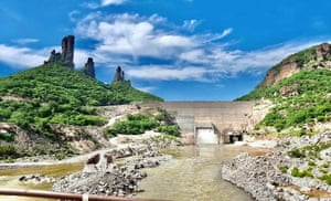 The Bicentenario-Los Pilares dam across the Mayo River in Sonora, Mexico.