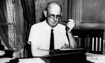 PG Wodehouse at home in Paris, 1945