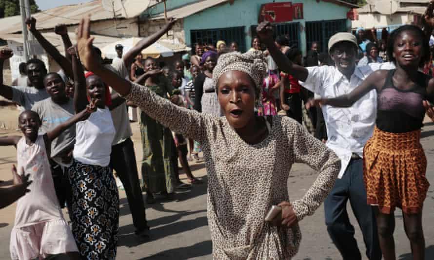 Gambians celebrate