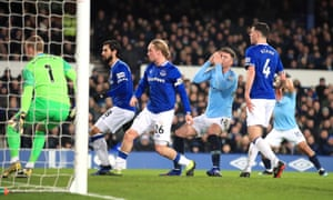 Manchester City's Aymeric Laporte (third right) reacts after a missed chance at goal