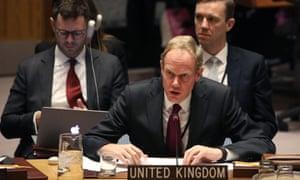 British representative to UN Matthew Rycroft