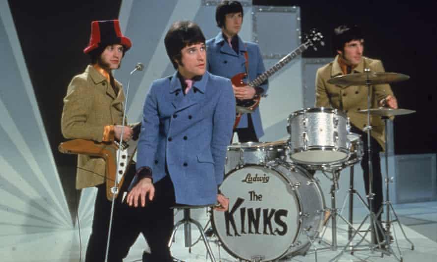 The Kinks, (l-r) Dave Davies, Ray Davies, Peter Quaife, and Mick Avory, 1968.
