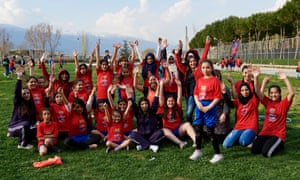 Playing football has inspired the girls in the Bekaa Valley in Lebanon.