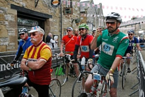 At Eroica Britannia the handlebars aren't only found on the bikes