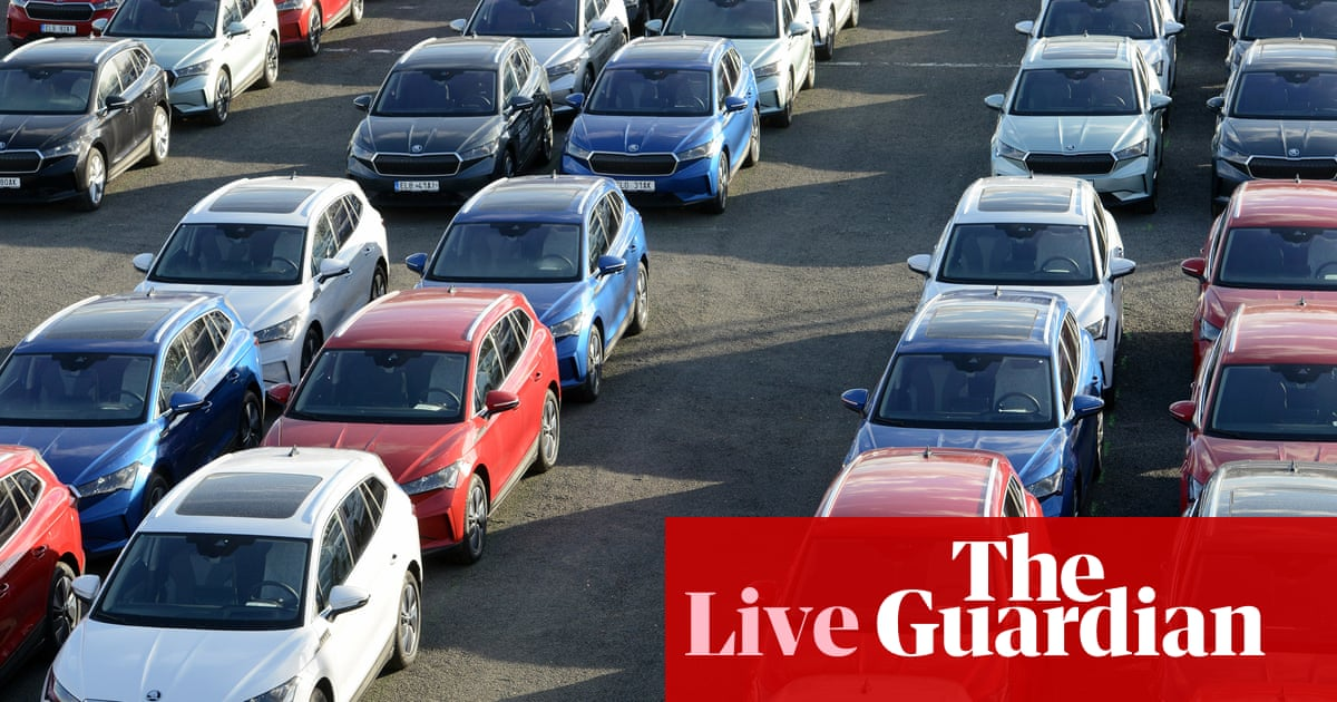 EU new car sales rise, as Bank of Japan cuts economic growth forecast – business live