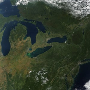 A potentially harmful algae bloom covered more than 700 square miles in the western basin of Lake Erie in late September, turning the lake bright green and alarming residents and local officials. Blooms tend to thrive in Lake Erie during summer, sustained by warm water temperatures and nutrients from farm runoff. This year, the bloom had been ongoing since mid-July.