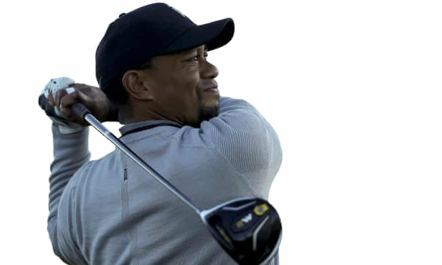 Tiger Woods at Farmers Insurance Open golf tournament in San Diego in January.