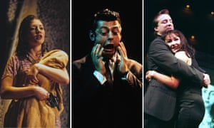 A time of invention and boom … from left: Kate Ashfield in Blasted, Andy Serkis in Mojo, Neal Pearson and Frances Barber in Closer.