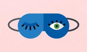 Cartoon Sleep mask with one eye open