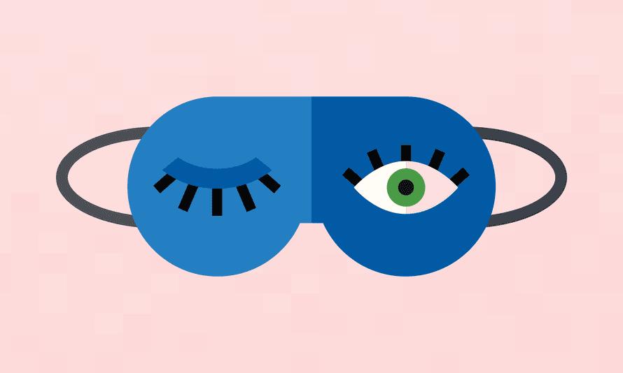 Cartoon Sleep mask with one eye open